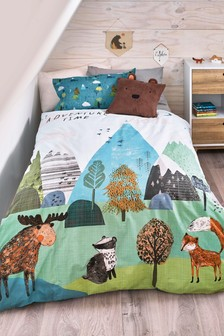 Mountain Adventure Reversible Duvet Cover and Pillowcase Set