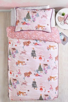 Fairytale Forest Reversible Duvet Cover and Pillowcase Set