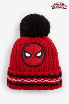 Red Spiderman™ Pom Beanie (Younger)