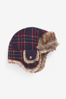 Check Trapper Hat (Younger)