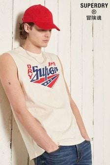 Superdry Boho Cut Off Graphic Vest