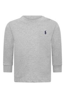 Baby Boys Grey Cotton Sweater