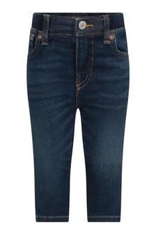 Baby Boys Blue Denim Stretch Jeans