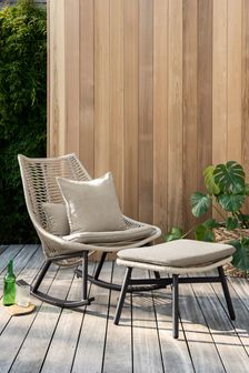 Natural Helsinki Rocking Chair With Footstool