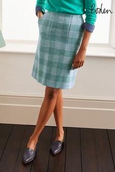 Boden Blue Atkins Tweed Mini Skirt