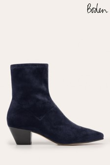 Boden Blue Western Stretch Boots