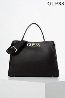 Guess Black Uptown Handbag