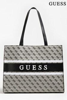Guess Black Logo Monique Tote Bag