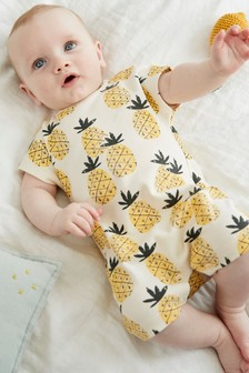 Pineapple Print Single Romper (0-3yrs)