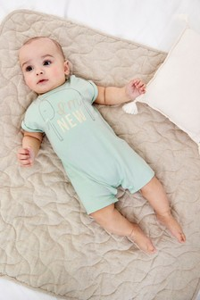 Mint New Here Single Romper (0-12mths)