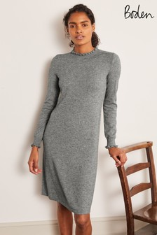 Boden Grey Lara Knitted Dress