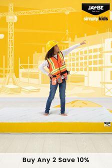 Yellow JayBe Simply Kids AntiAllergy Foam Free ePocket Sprung Mattress