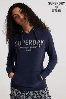 Superdry Premium Sequin Unbrushed Hoody
