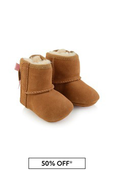 Baby Girls Chestnut Suede Jesse Bow Pre Walker Boots