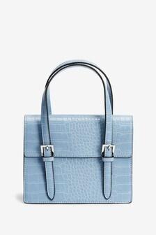 Pale Blue Hand Held Mini Bag