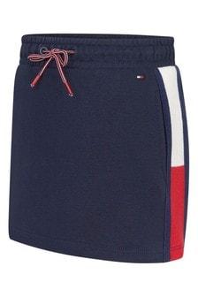 Girls Navy Organic Cotton Skirt