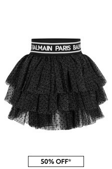 Girls Spotted Tulle Skirt
