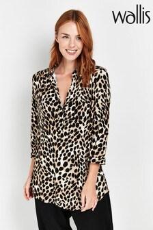 Wallis Beige Animal Print Shirt
