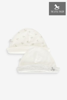 The Little Tailor Cream Jersey 2 Pack Rocking Horse Hat