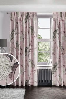 Eden Floral Print Pencil Pleat Curtains