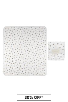 Baby Boys White Cotton Bear Blanket