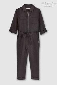 Mintie by Mint Velvet Black Zip Utility Jumpsuit