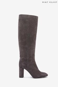 Mint Velvet Grey Rachel Knee Length Boots