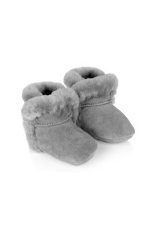 Grey Lassen Baby Booties