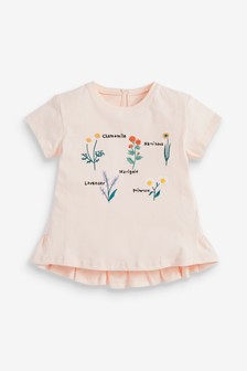 Pink Floral Embroidery T-Shirt (3mths-7yrs)