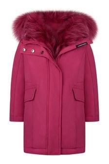 Girls Fuchsia Down Padded Coat