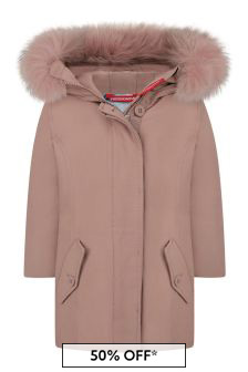 Girls Pink Cotton Down Padded Jacket