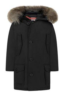 Boys Black Down Padded Coat