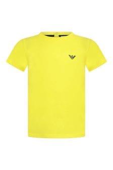 Baby Boys Yellow Cotton T-Shirt