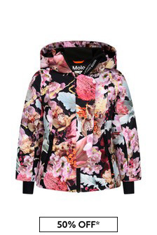Girls Pink Bouquet Ski Jacket