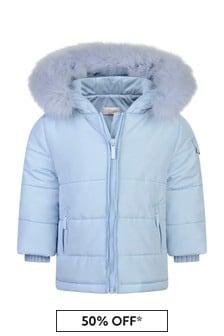 Boys Pale Blue Corduroy Jacket