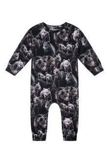 Baby Boys Organic Cotton Bears Romper