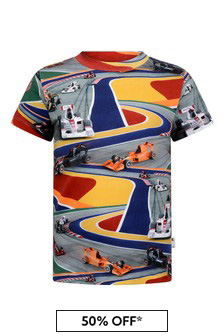 Boys Multicoloured Organic Cotton Full Speed T-Shirt