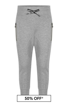 Grey Boys Grey Cotton Joggers