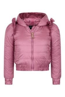 Girls Pink Down Padded Jacket