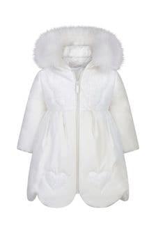Girls Ivory Coat