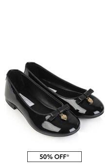 Black Girls Black Patent Leather Ballerinas