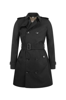Girls Black Mayfair Trench Coat