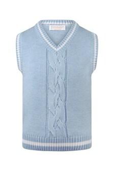Boys Blue Wool Slipover Top