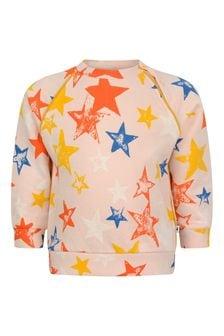Baby Girls Pink Organic Cotton Star Sweater