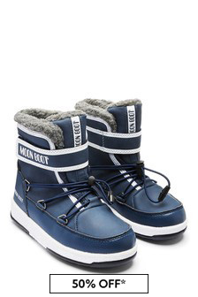 Boys Blue Waterproof Snow Boots