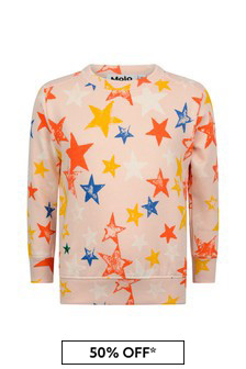 Pink Girls Pink Organic Cotton Star Sweater