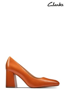 Clarks Burnt Orange Lea Laina85 Court Shoes