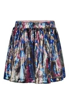 Girls Multicoloured Sequin Skirt