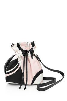 Girls Pink & Black Patterned Bag