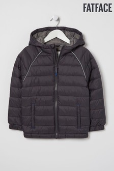 FatFace Black Harry Packaway Padded Jacket